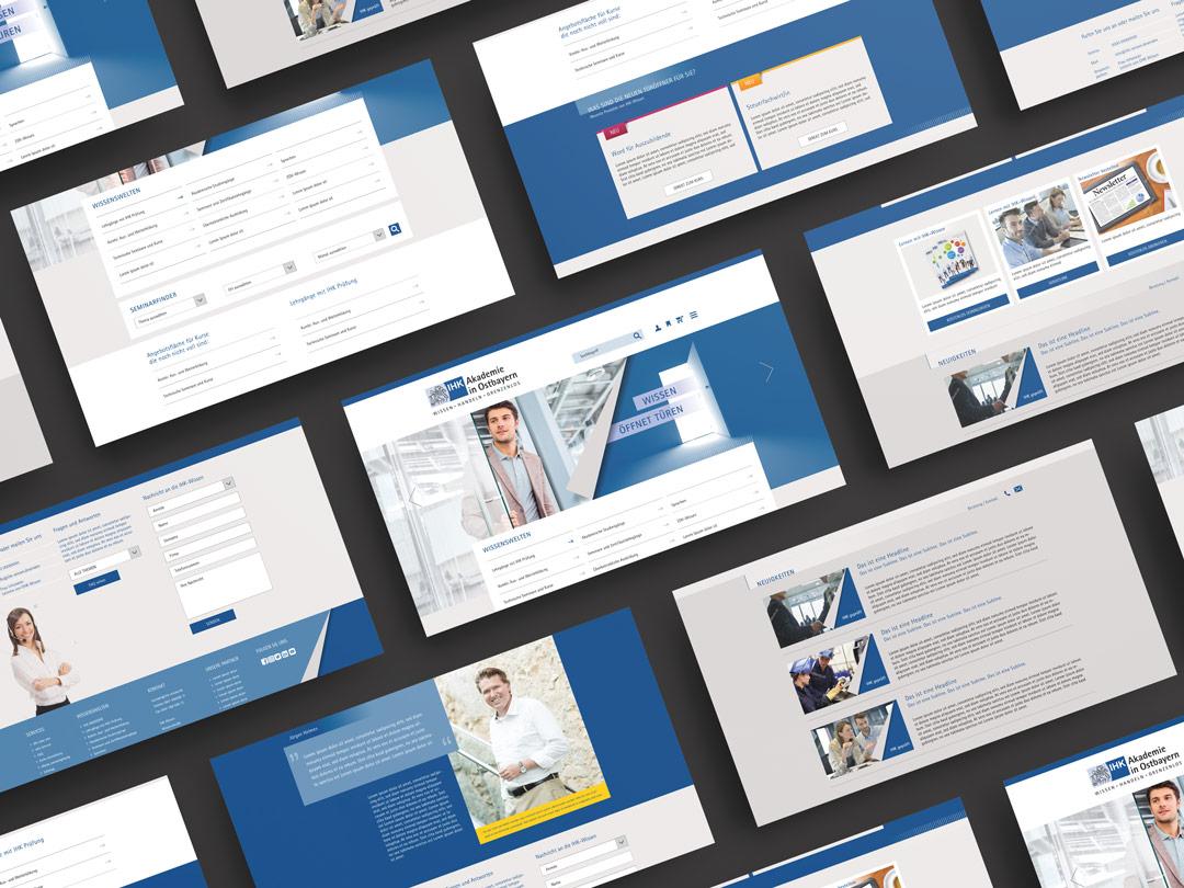 Ausgestaltung der Website von Renoarde für IHK