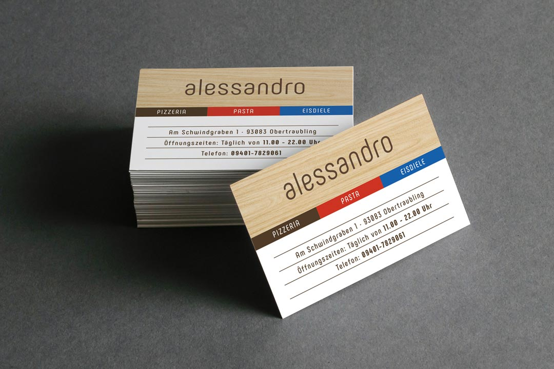 Visitenkarten von Renoarde für Alessandro