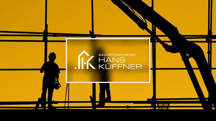 Hans Küffner Baugeschäft Kallmünz Logo von Renoarde Werbeagentur Regensburg